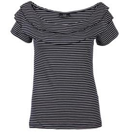 Damen Carmen Shirt mit Streifen