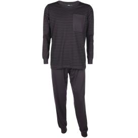 Herren Schlafanzug mit Streifenshirt