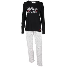 Damen Pyjama mit Love-Schriftzug