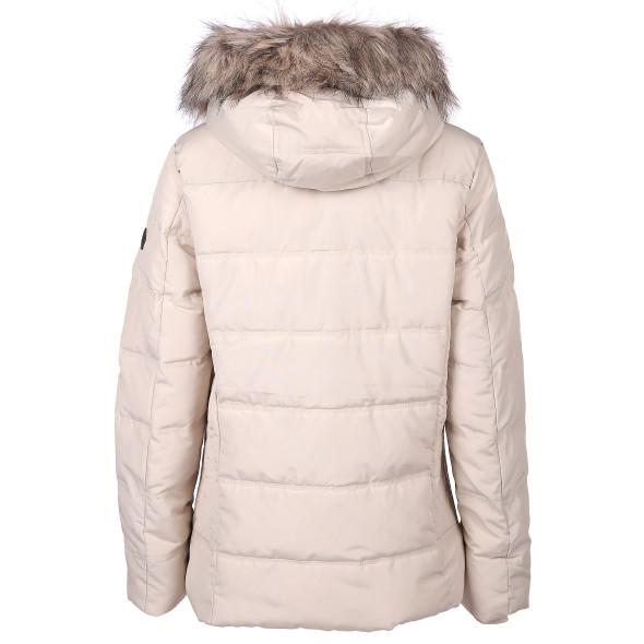 Damen Jacke mit Kapuze und abnehbarem Kunstfell
