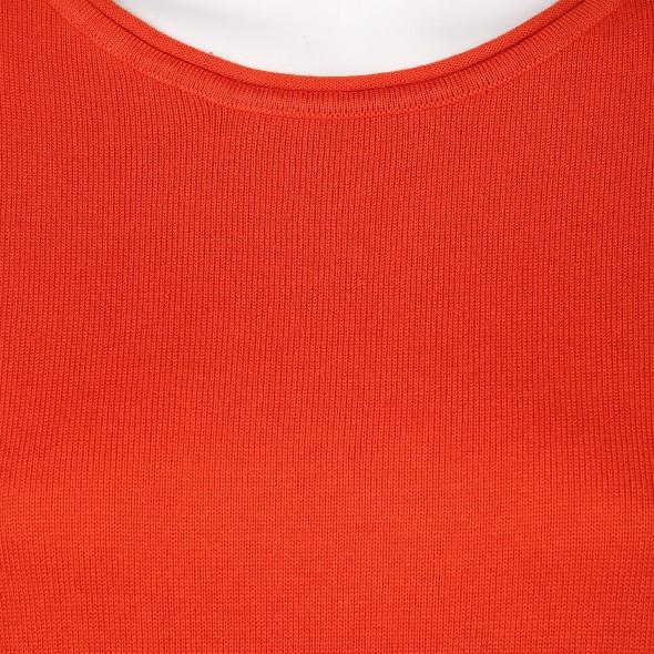 Damen Pullover mit Bindeband am Saum