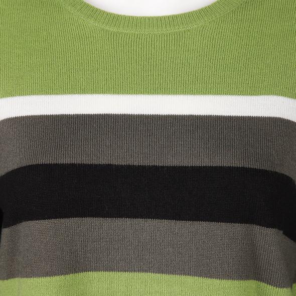 Damen Streifenpullover in kastiger Form