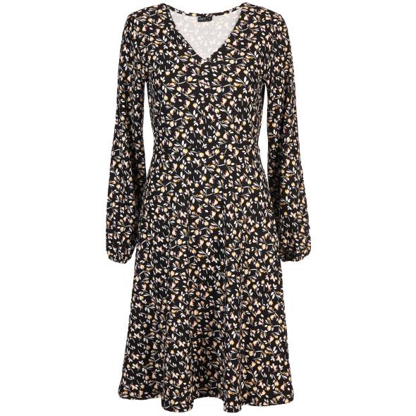 Damen Kleid mit V-Ausschnitt im Alloverprint