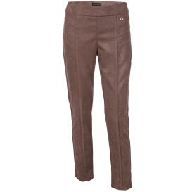 Damen Hose in Velourslederimitat
