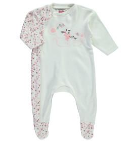 Baby Pyjama mit Print und Stickerei