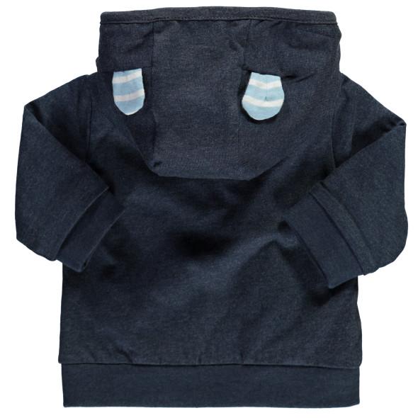 Baby Sweatjacke mit schrägem Reißverschluss
