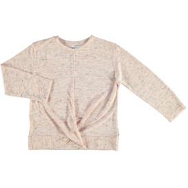 Mädchen Langarmshirt mit Knotendetail