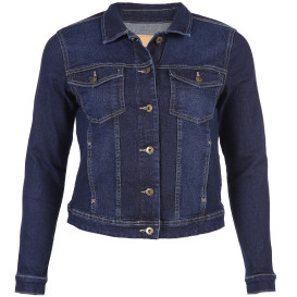 Only Carmakoma CARWESPA LIFE LS DNM Jeansjacke