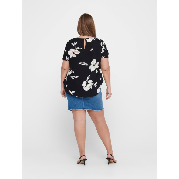 Only Carmakoma CARVICA SS AOP TOP NO Bluse