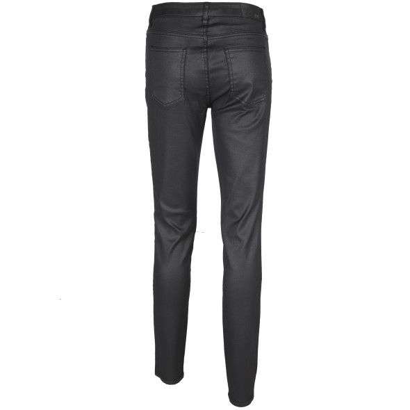 Damen Jeans in Skinny Form mit Glanzeffekt