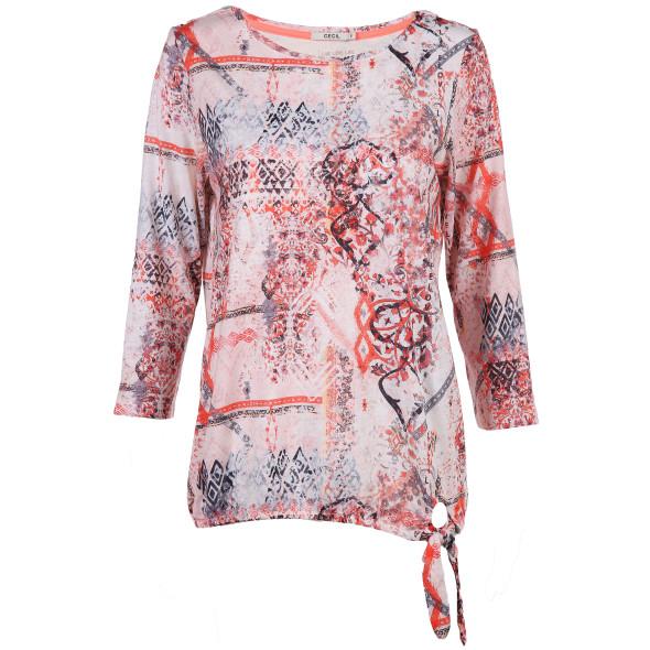 Damen Shirt mit Knotendetail