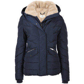 Damen Winterjacke mit Fellimitateinsatz