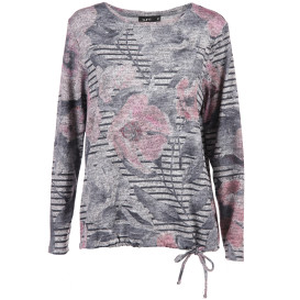 Damen Flauschshirt mit Alloverprint
