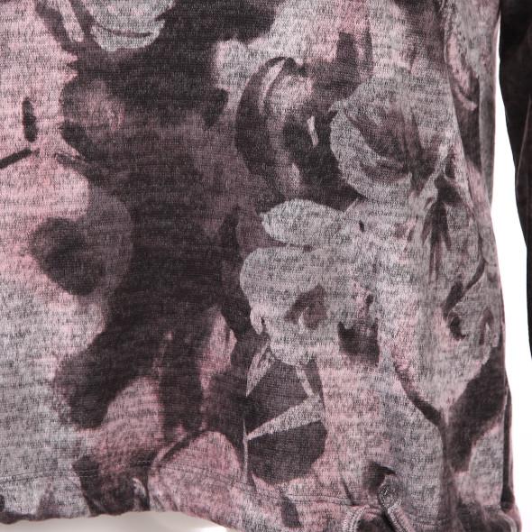 Damen Flauschshirt mit Alloverprint
