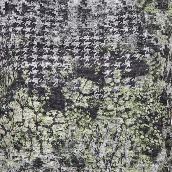 Damen Flauschshirt in melierter Optik