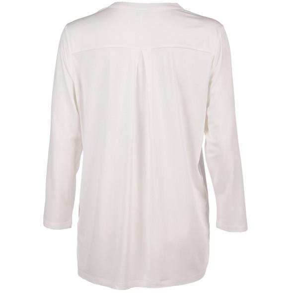 Damen Materialmix-Shirt mit 3/4 Arm