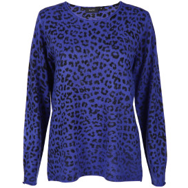 Damen Strickpullover mit Animalprint