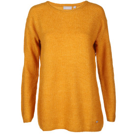 Damen Strickpullover in melierter Optik