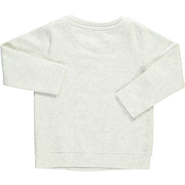 Mädchen Sweatshirt mit Glitzerschrift und Motiv