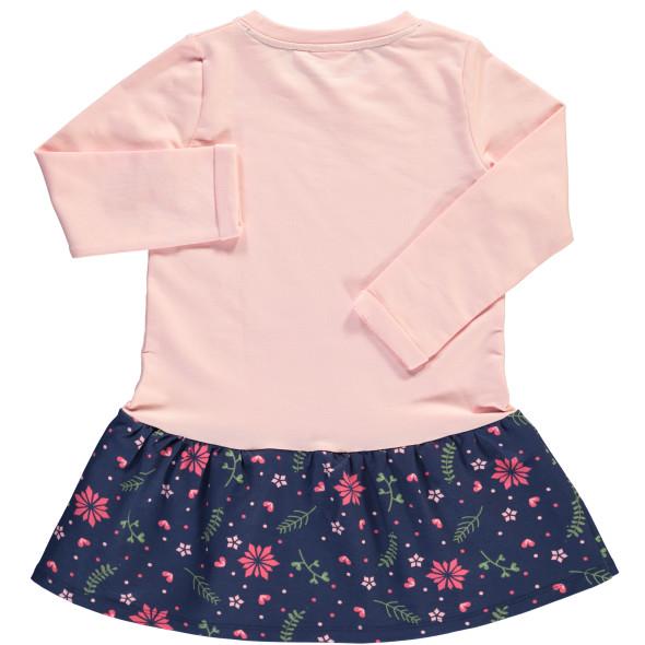 Mädchen Kleid mit Motiv und Blümchen