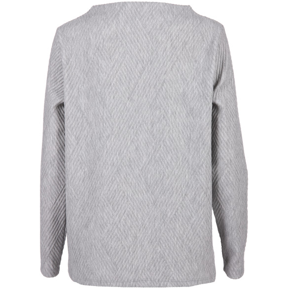 Damen Jaquard-Shirt in melierter Optik