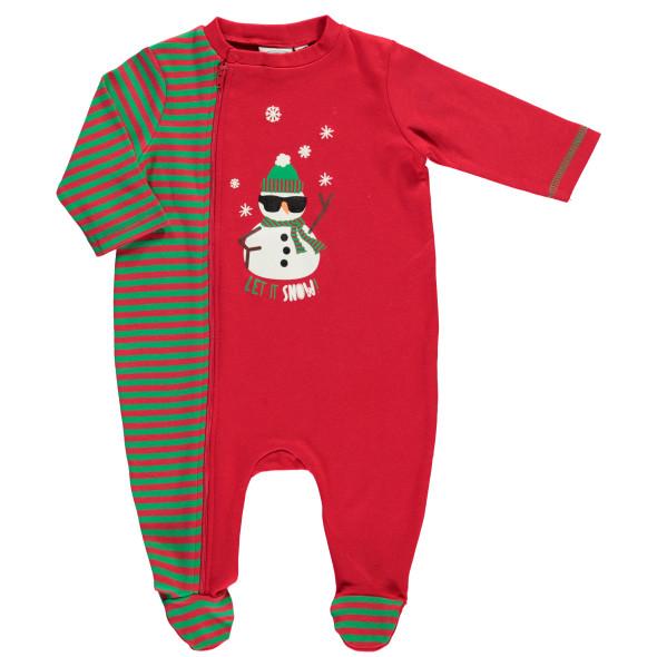 Baby Strampler im Weihnachtsdessin