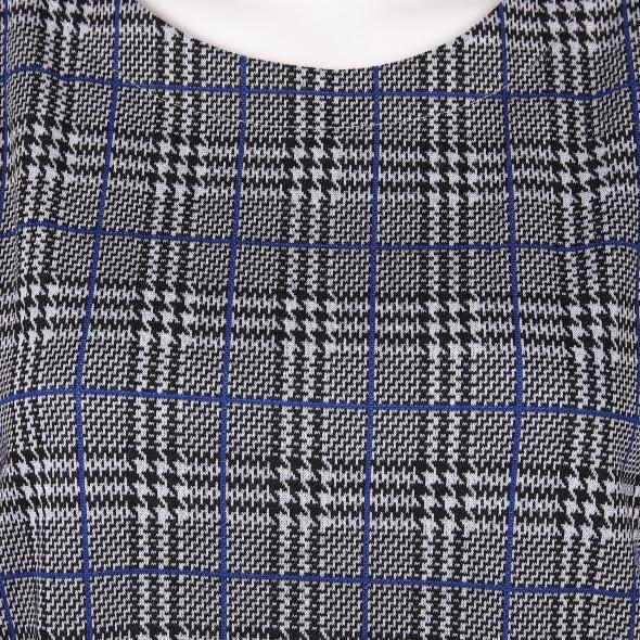 Damen Shirt mit Glencheck Muster