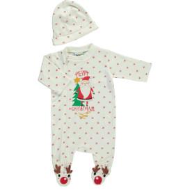 Baby Weihnachtsstrampler Set 2tlg.