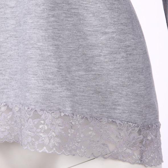 Damen Schlafshirt mit Spitze