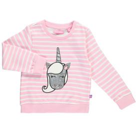 Mädchen Sweatshirt mit Glitzerprint und Applikation