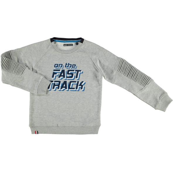 Jungen Sweatshirt mit Schriftprint