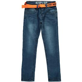 Jungen Jeanshose mit Stoffgürtel