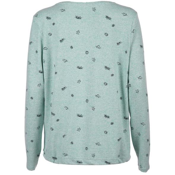Damen Strick-Shirt mit Alloverprint