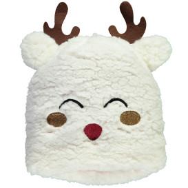 Baby Weihnachtsmütze mit Stickerei und Filzapplikation