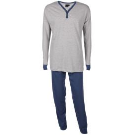 Herren Pyjama mit Paspelstreifen