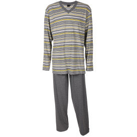 Herren Pyjama in Streifenoptik