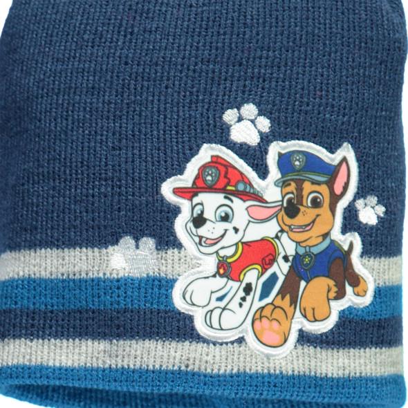 Jungen Mütze mit Bommel und Stickerei-Applikation