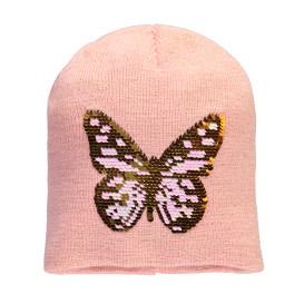 Mädchen Mütze mit Wendepaillettenmotiv