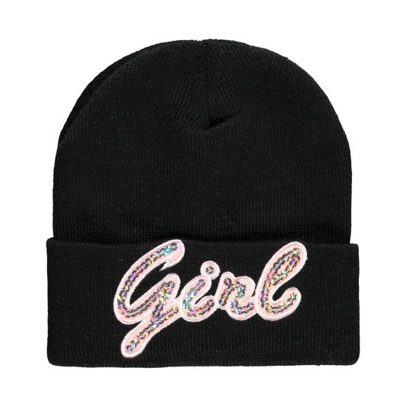 Mädchen Mütze mit Pailletten-Applikation