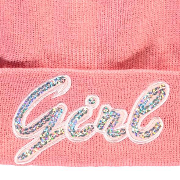 Mädchen Mütze mit Pailletten-Appliaktion