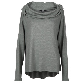 Damen Oversize Shirt in melierter Optik