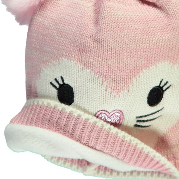 Mädchen Mütze mit Katzengesicht
