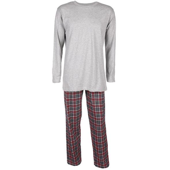 Herren Pyjama mit langer Flanellhose