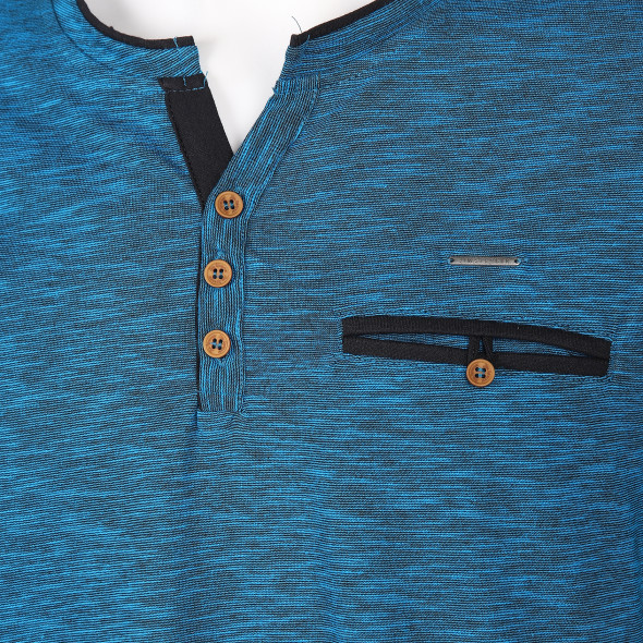 Herren Henleyshirt in melierter Optik
