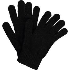 damen Strick Fingerhandschuhe mit Lurexfäden