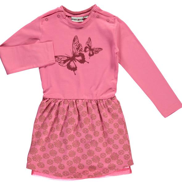 Mädchen Kleid mit Schmetterlings- und Blumenprint