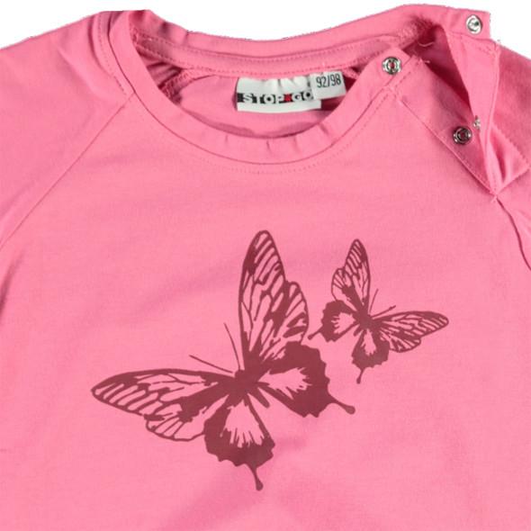 Mädchen Longsleeve mit Schmetterlingsprint