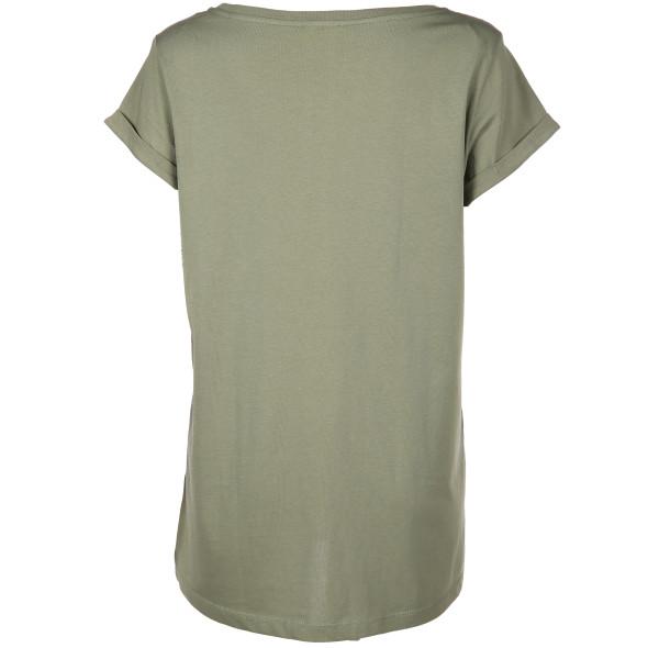 Damen Shirt mit samtigem Print