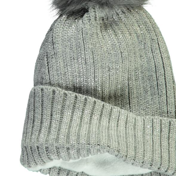 Mädchen Mütze mit Glitzerfäden