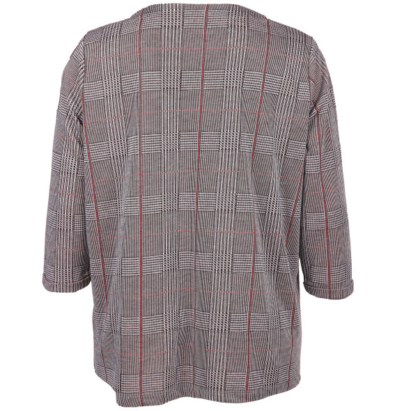 Große Größen Shirt im Glencheck Muster